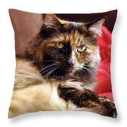 Regal Feline Throw Pillow