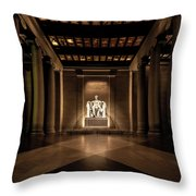 Remembering Mr. Lincoln Throw Pillow by Chris Lord