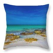 Remote Beach Paradise Turks And Caicos Throw Pillow