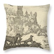 Renard Leaves With The Badger Throw Pillow