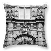 Rene Cassin School B W Throw Pillow