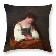 Repentant Mary Magdalene Throw Pillow