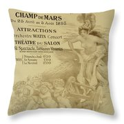 Reproduction Of A Poster Advertising An International Exhibition Of Commercial And Industrial Produ Throw Pillow