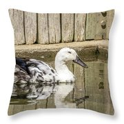 Rescue Runner Throw Pillow by Kate Brown