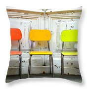 Restful Colours Throw Pillow