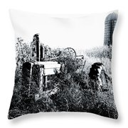 Retired John Deere Tractor 1 Throw Pillow