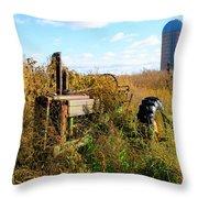 Retired John Deere Tractor 2 Throw Pillow