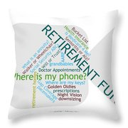 Retirement Fun Throw Pillow