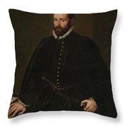 Retrato De Caballero   Throw Pillow