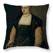 Retrato De Mujer   Throw Pillow