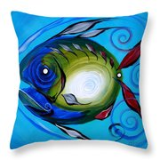 Return Fish Throw Pillow