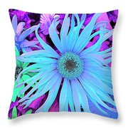 Rhapsody In Bleu Throw Pillow