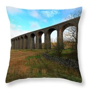 Ribblehead Viaduct On The Settle Carlisle Railway North Yorkshire Throw Pillow