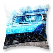Richard Petty Superbird Throw Pillow