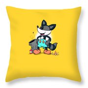 Ricky Raccoon  Throw Pillow