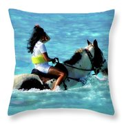 Ride The Dream Throw Pillow
