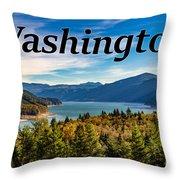 Riffe Lake, Washington Throw Pillow