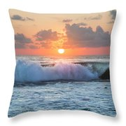 Ring Of Fire Throw Pillow by Debra and Dave Vanderlaan