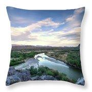 Rio Grand River Throw Pillow