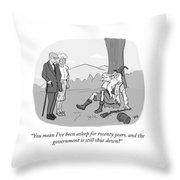 Rip Van Winkle Throw Pillow