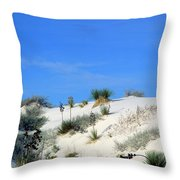 Rippled Sand Dunes In White Sands National Monument, New Mexico - Newm500 00106 Throw Pillow