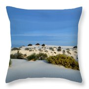 Rippled Sand Dunes In White Sands National Monument, New Mexico - Newm500 00114 Throw Pillow