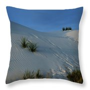 Rippled Sand Dunes In White Sands National Monument, New Mexico - Newm500 00118 Throw Pillow