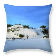 Rippled Sand Dunes In White Sands National Monument, New Mexico - Newm500 00119 Throw Pillow