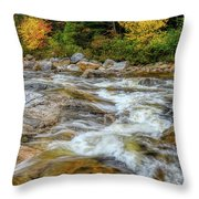 River Cross, Swift River Nh Throw Pillow by Michael Hubley