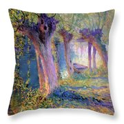 River Epte Giverny 1910  Throw Pillow