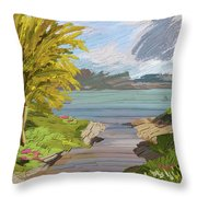 River Ode Throw Pillow