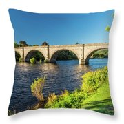 River Tay, Dunkeld, Perthshire Throw Pillow