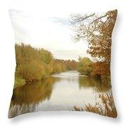 river Teviot at dusk Throw Pillow