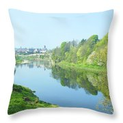 river tweed at Coldstream Throw Pillow
