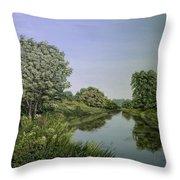 River Wey Throw Pillow