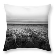 Rivers Flowing Into The Night Throw Pillow