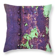 Rivets Rust And Paint Throw Pillow