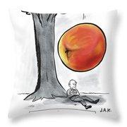 Roald Dahl Gets A Book Idea Throw Pillow
