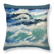 Roaring Ocean Throw Pillow