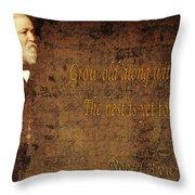 Robert Browning 1 Throw Pillow