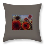 Robin's Banquet Throw Pillow by J Reynolds Dail