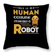Robot Human Costume Throw Pillow