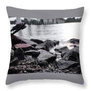 Rock Bridge Throw Pillow