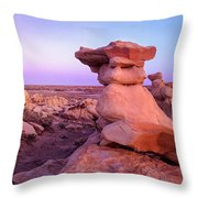 Rock Formations, Bisti Badlands, New Throw Pillow