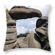 Rock Gate In The Nature Reserve Broumov Walls Throw Pillow
