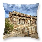 Rock House Throw Pillow