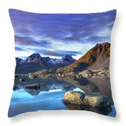 Rock Reflection Landscape Throw Pillow