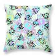 Rocketeering Repetition Throw Pillow