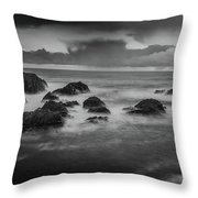 Rocks In The Storm Throw Pillow