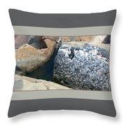 Rocks2 Throw Pillow